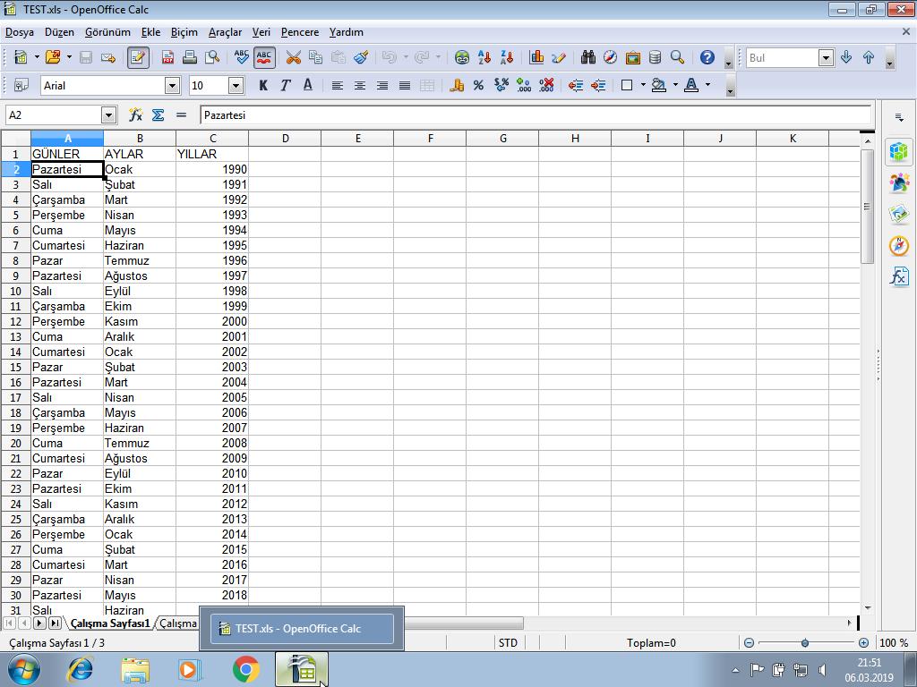 Libre Office, Calc ondalık sayı ayarları nasıl ve nerden yapılır?