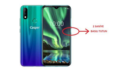 Casper Via S 128 Gb Ekran görüntüsü nasıl alınır