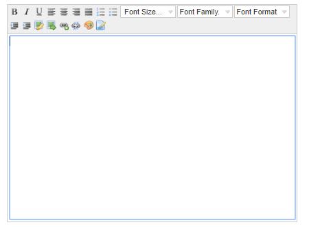 Oluşturulan forma Editör nasıl eklenir?