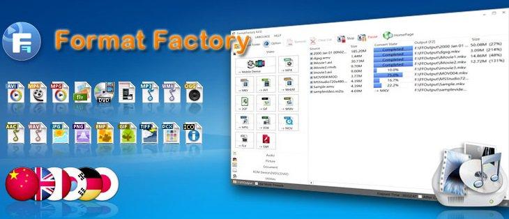 Video fotoğraf müzik dönüştürme programı – Format Factory 5.0.1.0