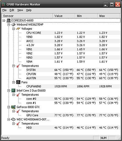 HWMonitor – Sıcaklık, Voltaj, Fan Hızlarını gösteren yazılım