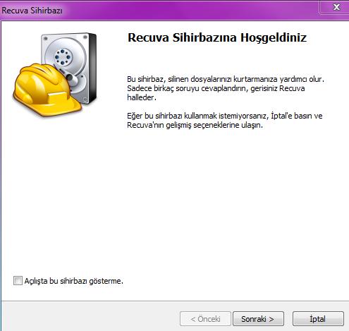 Silinen dosyaları kurtarma programı : Recuva 1.53