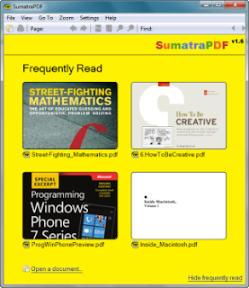 Adobe Readera Hafif ve Hızlı Alternatif Sumatra Pdf