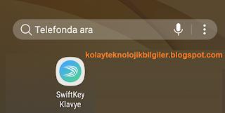 Swiftkey Uygulaması yazma verileri nasıl temizlenir