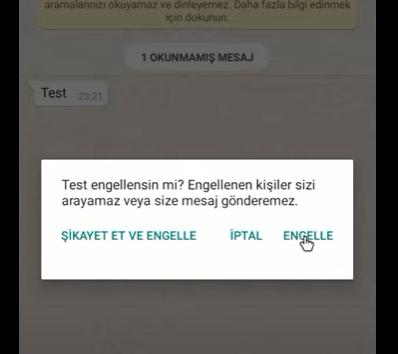 WhatsApp uygulamasında kişi engelleme nasıl yapılır?