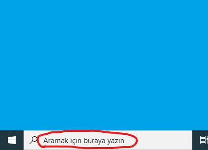 Windows 10'da başlat çubuğu arama alanı veya simgesi nasıl gizlenir?