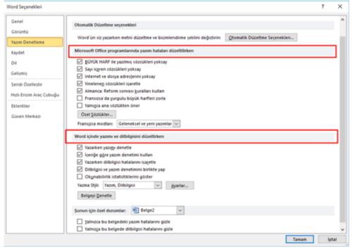Microsoft Word Otomatik Düzeltme Nasıl Kapatılır?
